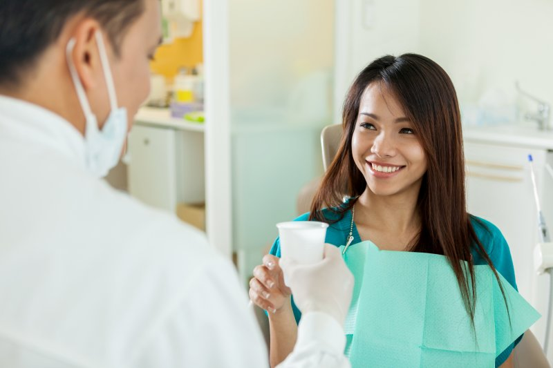 woman feels safe about visiting her dentist in Mount Vernon